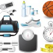 Royalty-Free Stock : Fitness icons