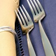 Stock Photo: Fine silverware
