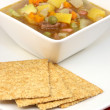 Beef and vegetables soup - Stock Photo