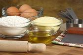 Frische Tortellini Zutaten — Stockfoto