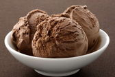 Delicious gourmet chocolate ice cream, — Stock Photo