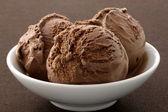 Delicious gourmet chocolate ice cream, — Stock Photo