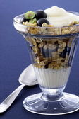 Healthy and delicious parfait — Stock Photo