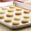 Short bread cookies - Stock Photo