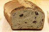 Wholegrain raisins and nuts bread — Stock Photo