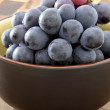 Stock Photo: Fresh concord grapes