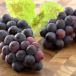 Fresh concord  grapes - Stock Photo