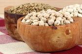 Dry raw legumes — Stock Photo