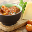 Pizza or pasta sauce and parmesan cheese — Foto de Stock