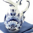 Antique blue delft milk jar — Stock Photo
