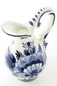 Antique blue delft milk jar — Stock Photo