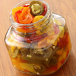 Pickled hot peppers — Stock Photo #6161622