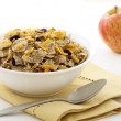 Healthy granola and fresh apple — Stok fotoğraf