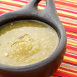 Royalty-Free Stock Photo: Tomatillo sauce in colombian clay dish