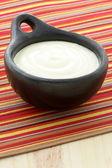 Fresh delicious sour cream — Stock Photo