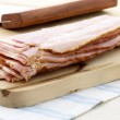 Cured delicious bacon — Foto Stock