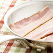 Cured delicious bacon — Stock Photo
