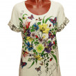 Beautiful t-shirt with flowers - Stock Photo