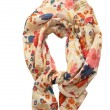 Scarf with flowers - Stock Photo