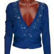 Blue woman's jacket — Stock Photo