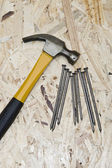 Hammer and nails — Stockfoto
