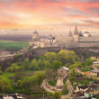 Dramatic view on the castle in Kamianets-Podilskyi — Stock Photo