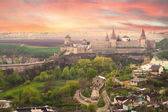 Dramatic view on the castle in Kamianets-Podilskyi — Photo