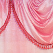 Pink curtain detail — Stock Photo