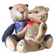 Teddy bead couple in love — Stock Photo