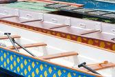 Båtar dockad till moorage — Stockfoto