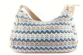Cotton knit handbag. — Stock Photo