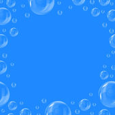 Frame of beautiful bubbles — Stock Photo