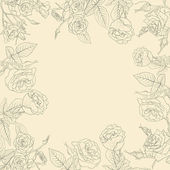 Vector floral background, frame from flowers — ストック写真
