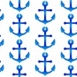 Seamless wallpaper with sea anchors — Stock Photo
