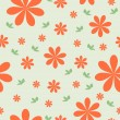 Floral wallpaper with set of different flowers. — Stock Photo