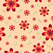 Stock Photo: Floral wallpaper with set of different flowers.