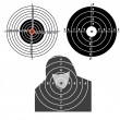 Stock Photo: Set targets for practical pistol shooting