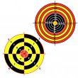 Set targets for practical pistol shooting — Stock Photo #5603582