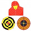 Set targets for practical pistol shooting — Stock Photo #5603585