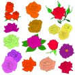 Set of in hand drawn style roses. Vector EPS 10 illustration. — Stock Photo #5663013