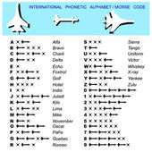 Alphabet Morse Code Aviation — Stock Photo