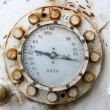Old rusty gas gauge manometer — Stock Photo