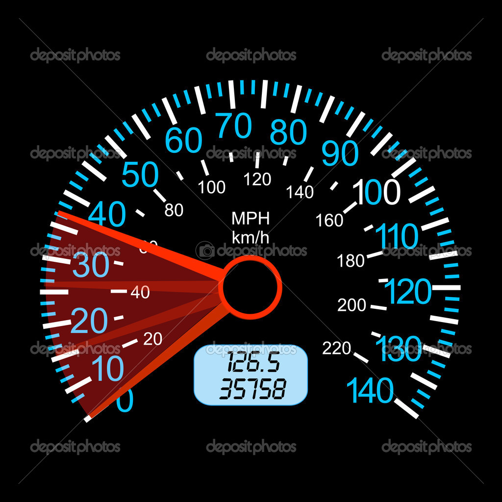Car speedometer for racing