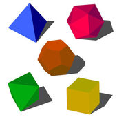 Colorfull 3d vector geometric shapes — Stock Photo