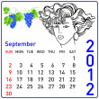 Royalty-Free Stock Photo: 2012 year calendar in vector. September.