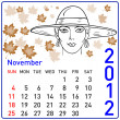 Royalty-Free Stock Photo: 2012 year calendar in vector. November.