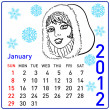 Royalty-Free Stock Photo: 2012 year calendar in vector. January.