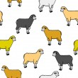 Seamless wallpaper with sheep and rams — Stock Photo #6315717