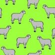 Royalty-Free Stock Photo: Seamless wallpaper with sheep and rams