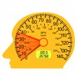 Car speedometer in the human brain — Stock Photo
